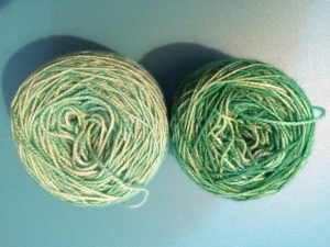 hand dyed glitter yarn for 2 in 1 sock challenge by knitting in france