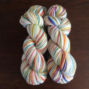 multi colored sock weight cashmere based yarn www.knittinginfrance.com
