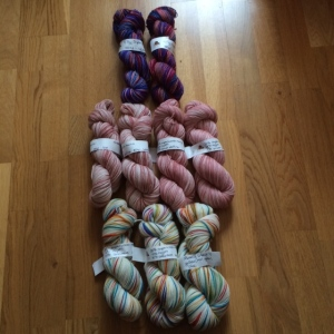 all new hand dyed yarns by www.knittinginfrance.com