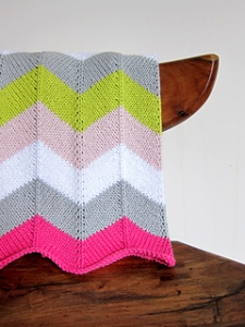 chevron baby blanket from espace tricot