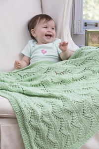 lace chevron blanket