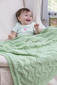 lace chevron blanket
