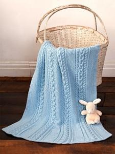 little baby blue blanket