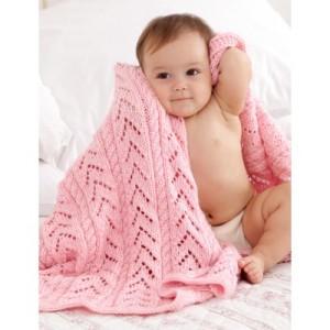 yarnspirations pink baby blanket