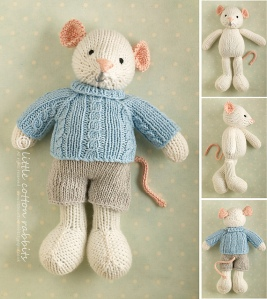 boy mouse in sweater