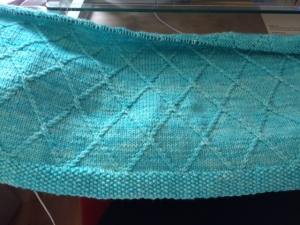 progress on my baby blanket - www.knittinginfrance.Com