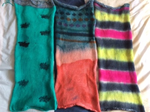 hand dyed sock blanks by Knitting in France