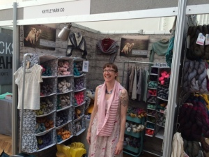 Renee Callahan in Kettle Yarn Co booth