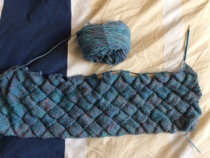 Handspun yarn and an entrelec stole