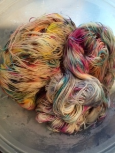 just out of the dye pot www.knittigninfrance.com