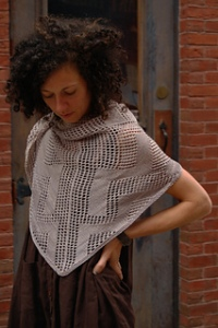 Peret shawl  - www.knittinginfrance.com