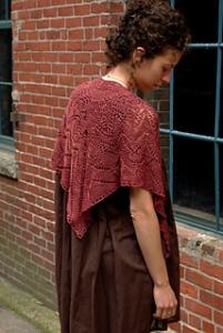 Reverdy shawl  - www.knittinginfrance.com
