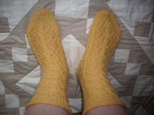Dragontail free sock pattern on Ravelry