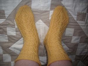 Dragontail free sock pattern on Ravelry