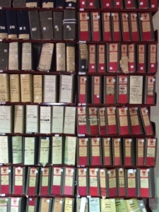 Sicily - anti mafia museum in Corleone shelves of files