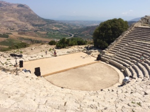 Sicily - greek theater in Segesta