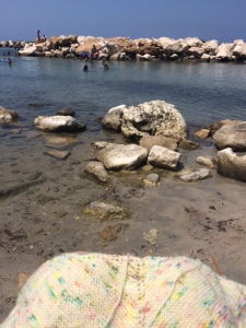 Sicily - knitting in a creek