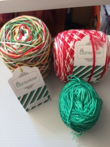 christmas yarn from the cozy knitter