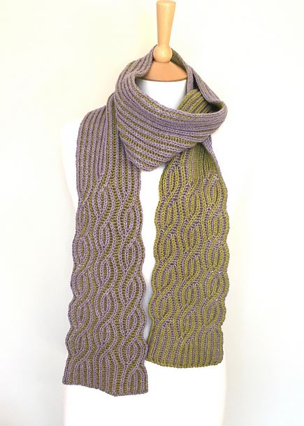 Tangled-yarn's Brioche Twister pattern by Renée Callahan