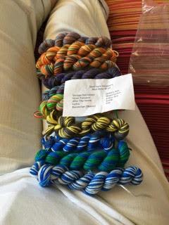 mint rain yarn minis