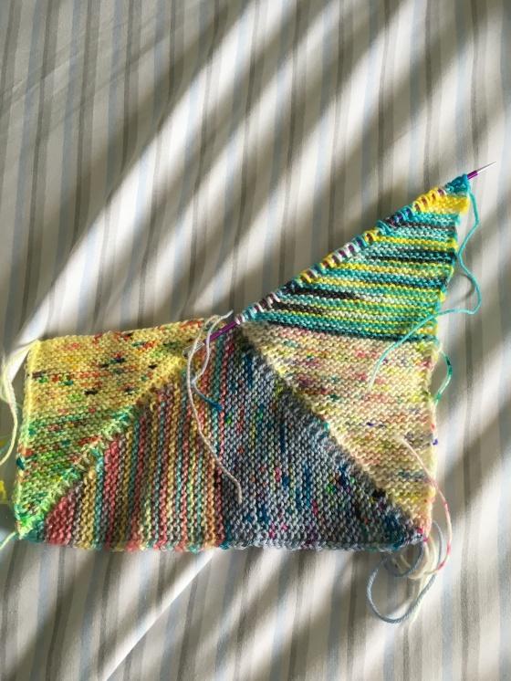 square 4 pinwheel blanket