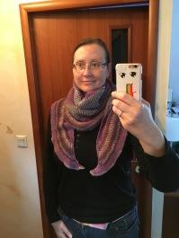 Briochealicious shawl by Andrea Mowry being modelled by myself aka Knitting in France