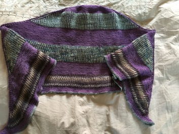 Briochealicious shawl by Andrea Mowry knit by Knitting in France