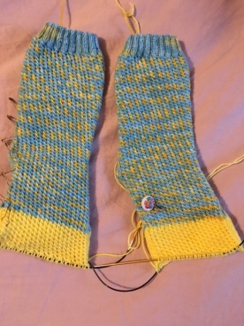 Twisted Madness #sockmadness 11 knit in yarn from Knitting in France