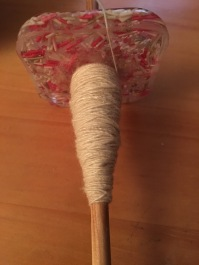 a little bit of spinning on my SpinCity UK sprinkles spindle