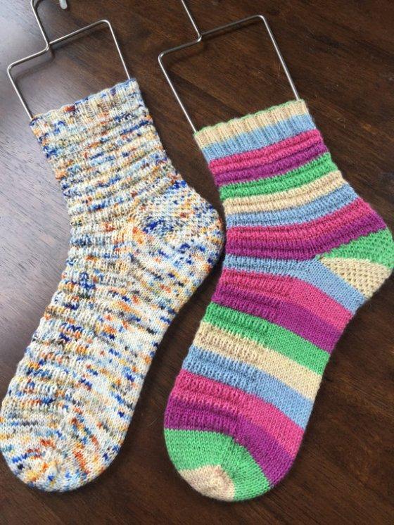 francofille knits macaron socks