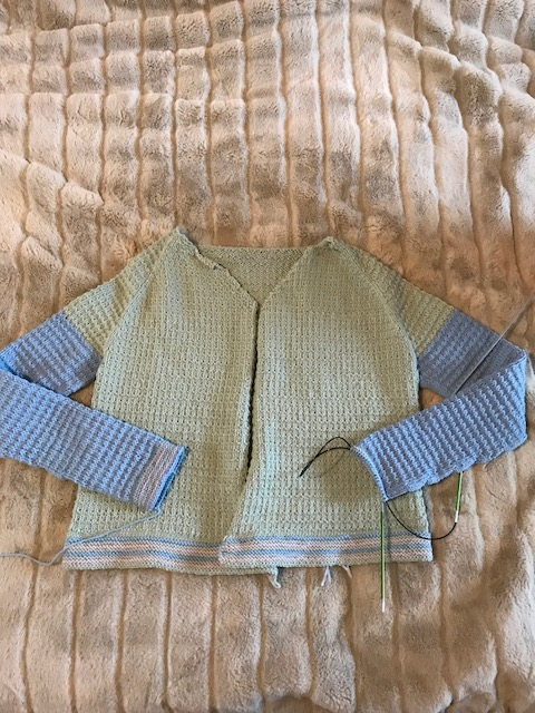 child cardi test knit