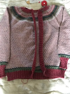 flea cardigan with button bands