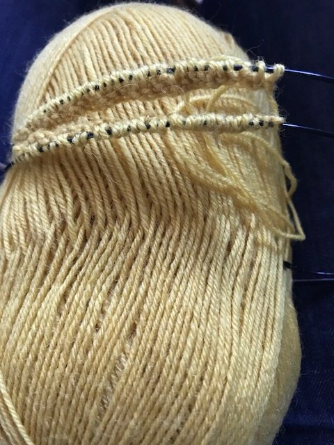 marie curie sock four beginning